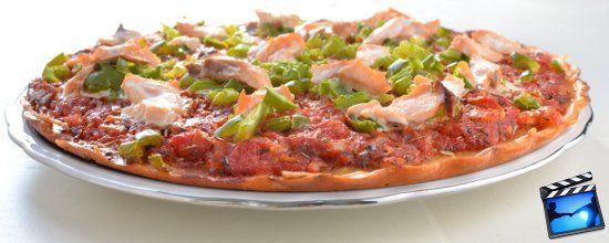 Pizza sans gluten saumon